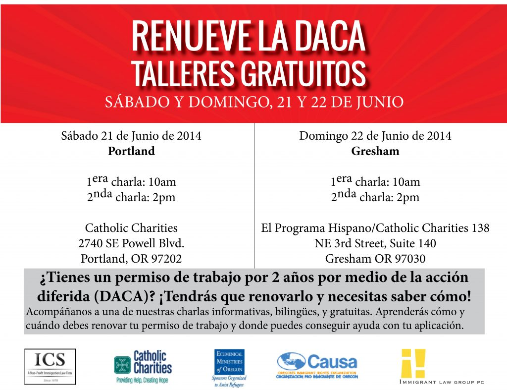 daca renewal flyers spanish
