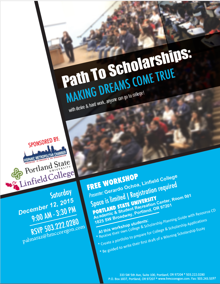 Path to Scholarships Workshop Dec 12